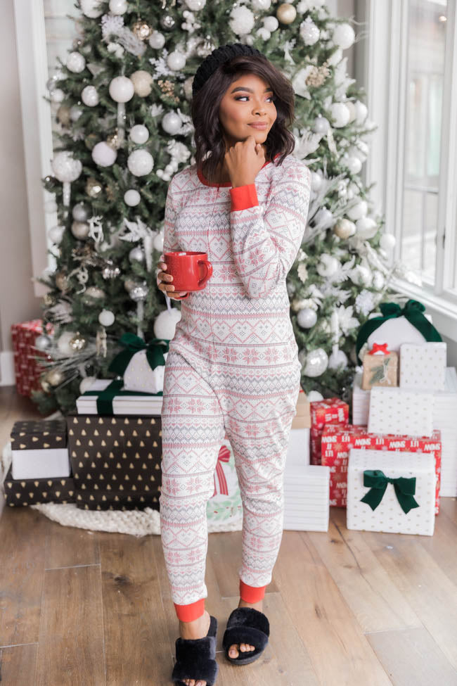 Holiday Magic Red Pajama Onesie