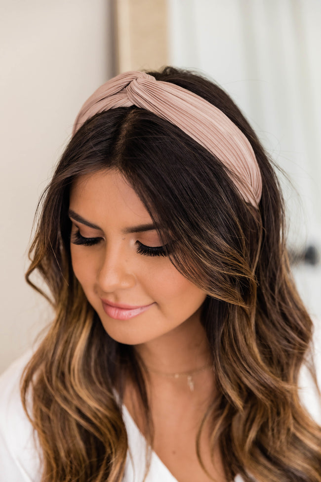 A Grand Affair Pleated Headband Blush