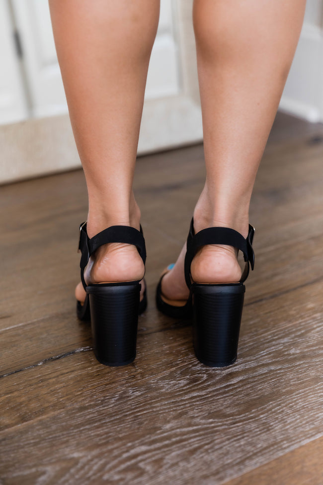 Lizzie Block Heel Black