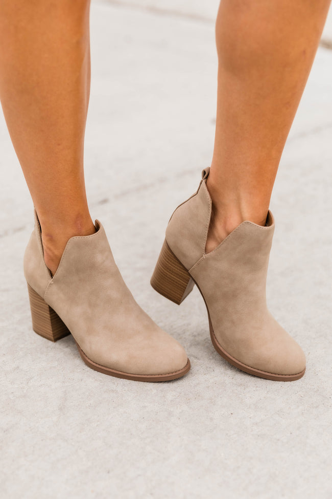 Luna Taupe Booties