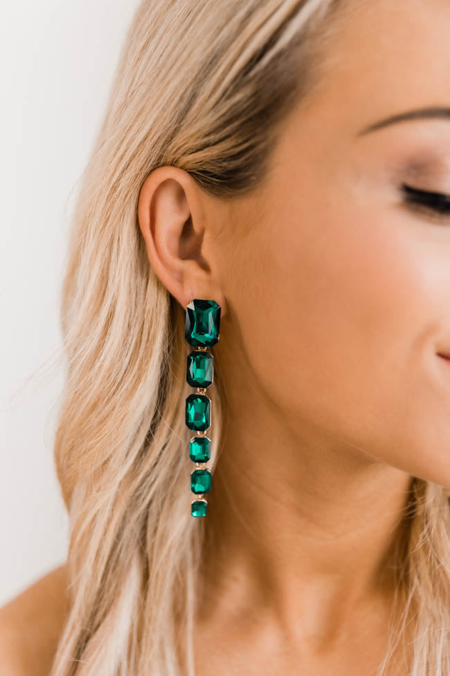 Honest Truth Green Tiered Earrings