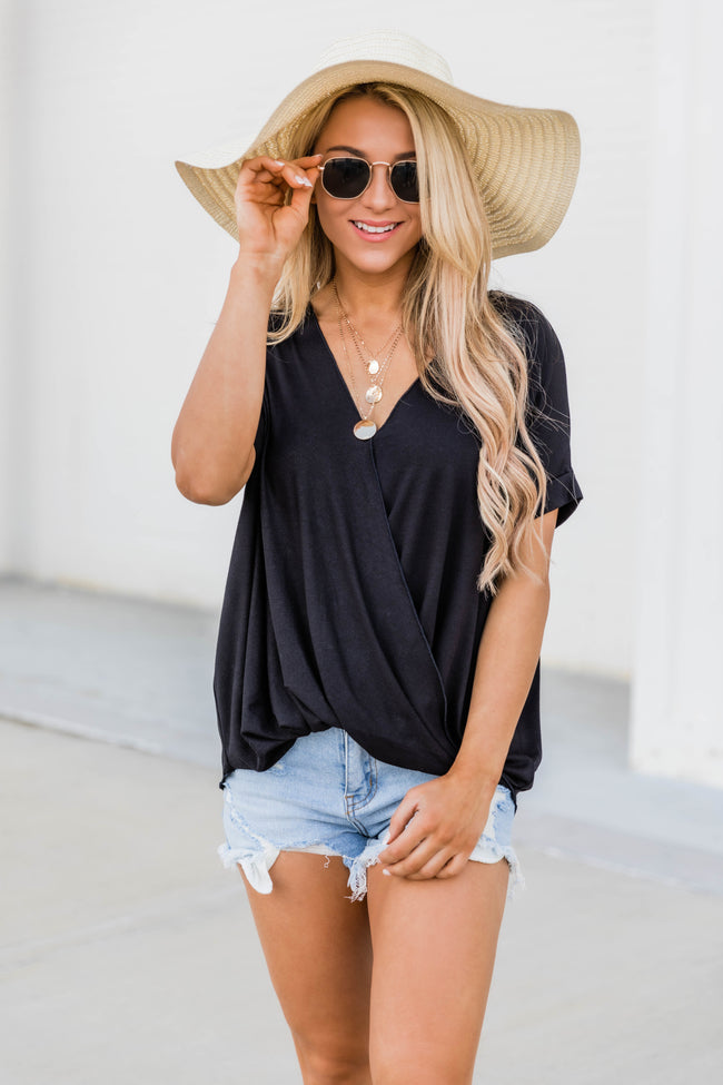 Wrapped Up In You Blouse Black