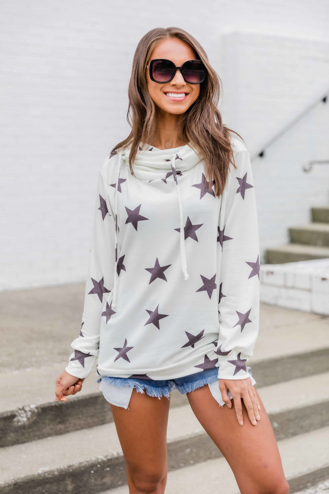 You Got Me Chasing Stars Hoodie Cream