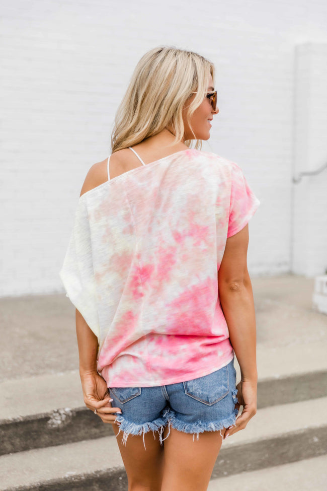 Dance All Day Tie Dye Tee Coral/Yellow