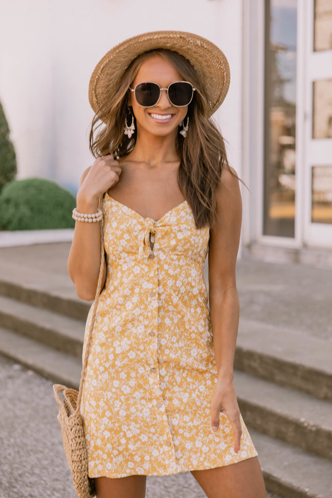 Blooming Love Floral Dress Yellow