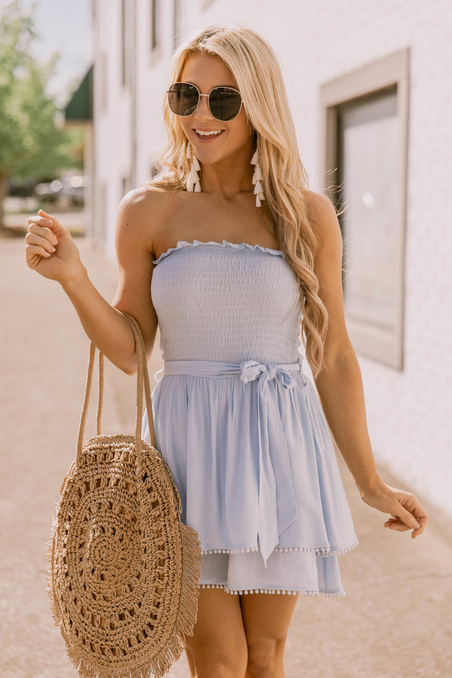 Hold On Forever Light Blue Romper