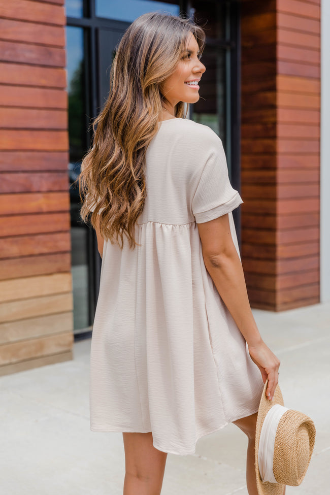 Connect To Your Heart Taupe Dress