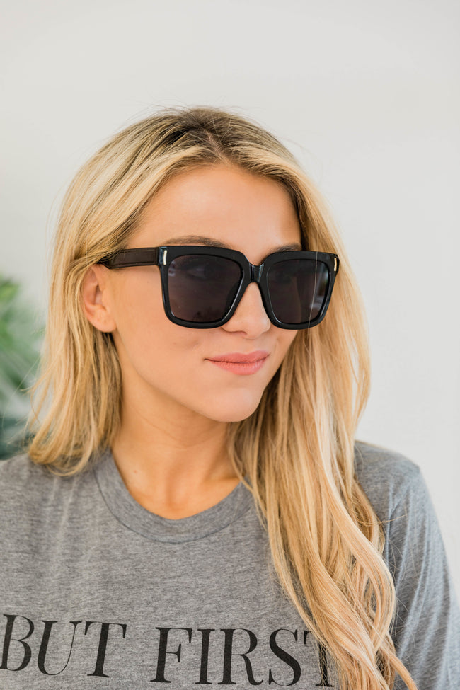 Cool and Collective Square Sunglasses Black