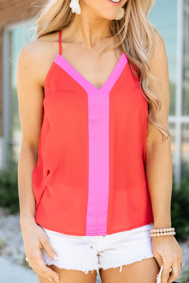 Sunny Days Ahead Cami Red