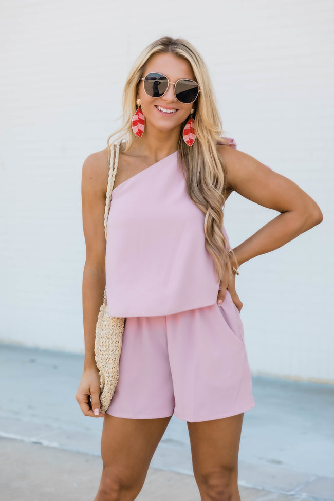 In My Favor Romper Mauve