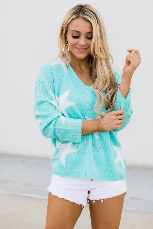 Catch A Star Sweater Mint