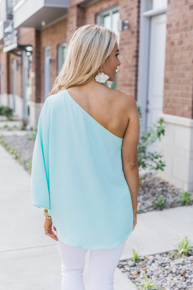 Follow Where You Go Seafoam Blouse
