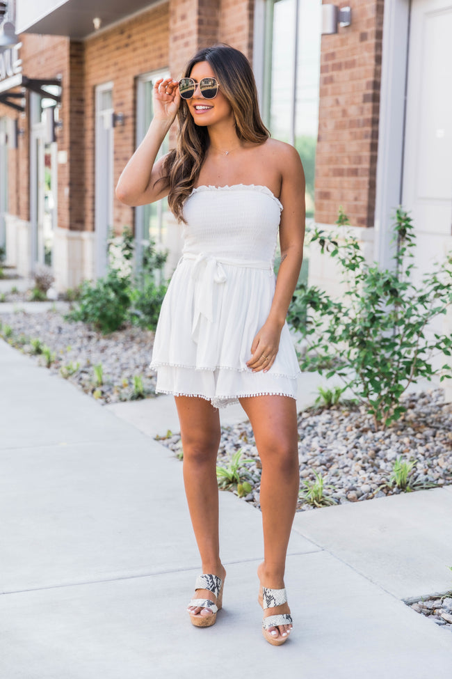 Hold On Forever White Romper