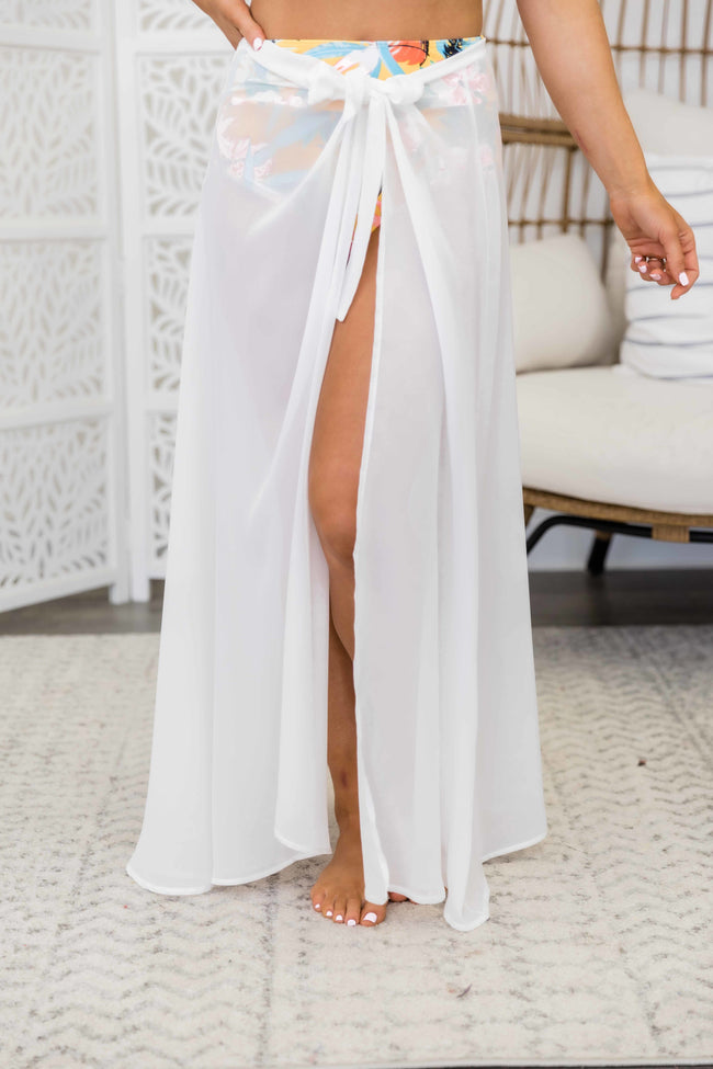 White Sand Dreams Sarong White