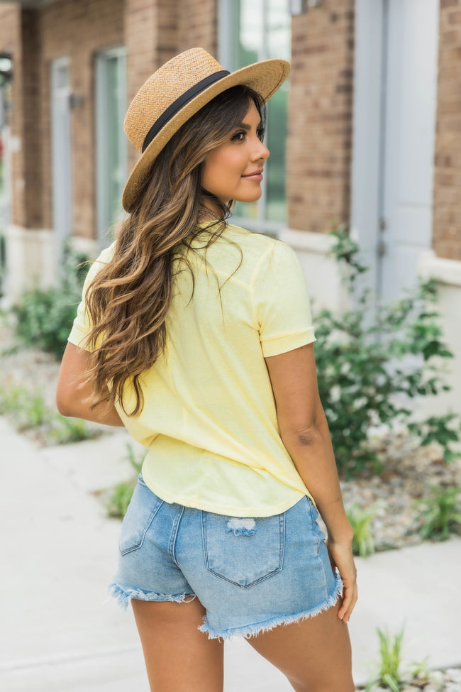 The Simple Things Solid Tee Yellow