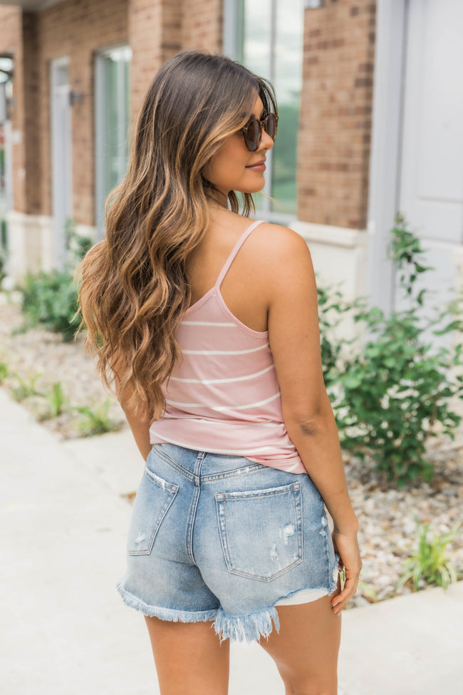 Terrific Trends Striped Tank Blush