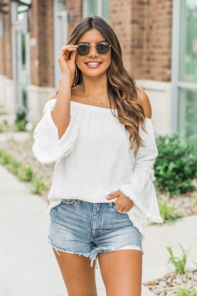 Just One Smile Ivory Blouse