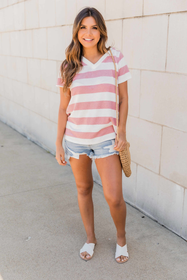 The Most Desired Striped Blouse Mauve