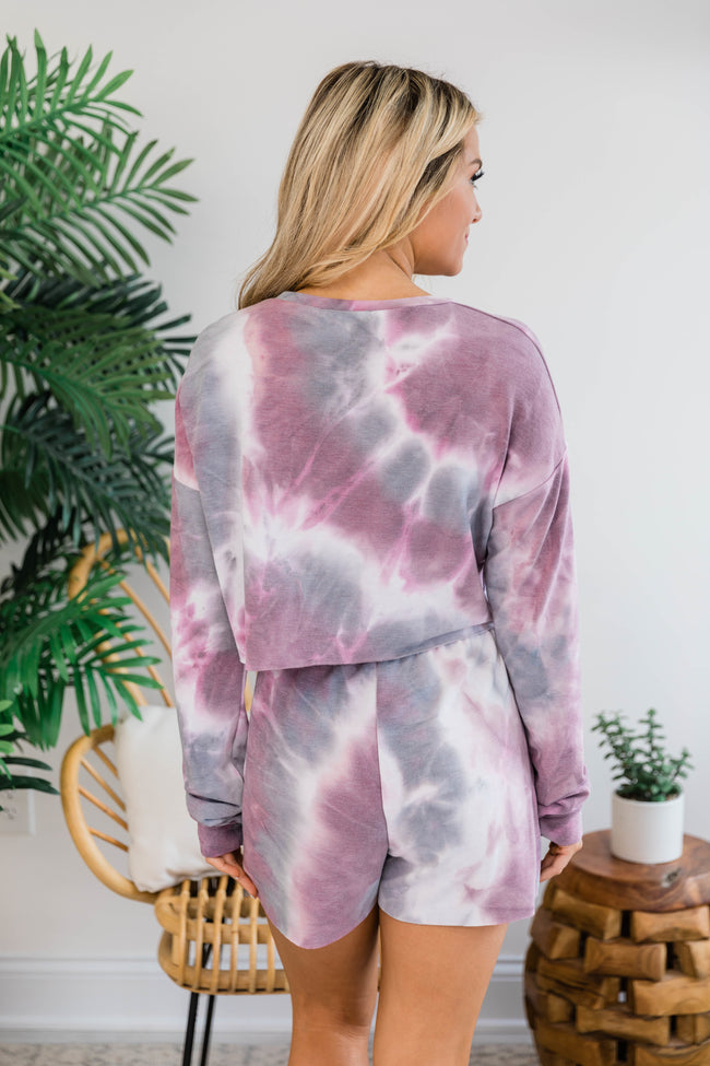 Dazzling Delight Tie Dye Pullover Purple FINAL SALE