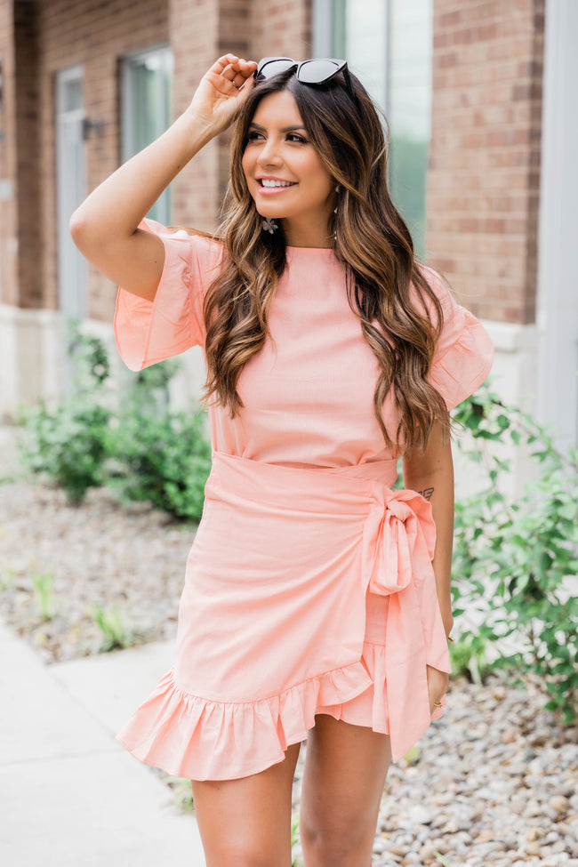 Shine After Sundown Peach Dress FINAL SALE