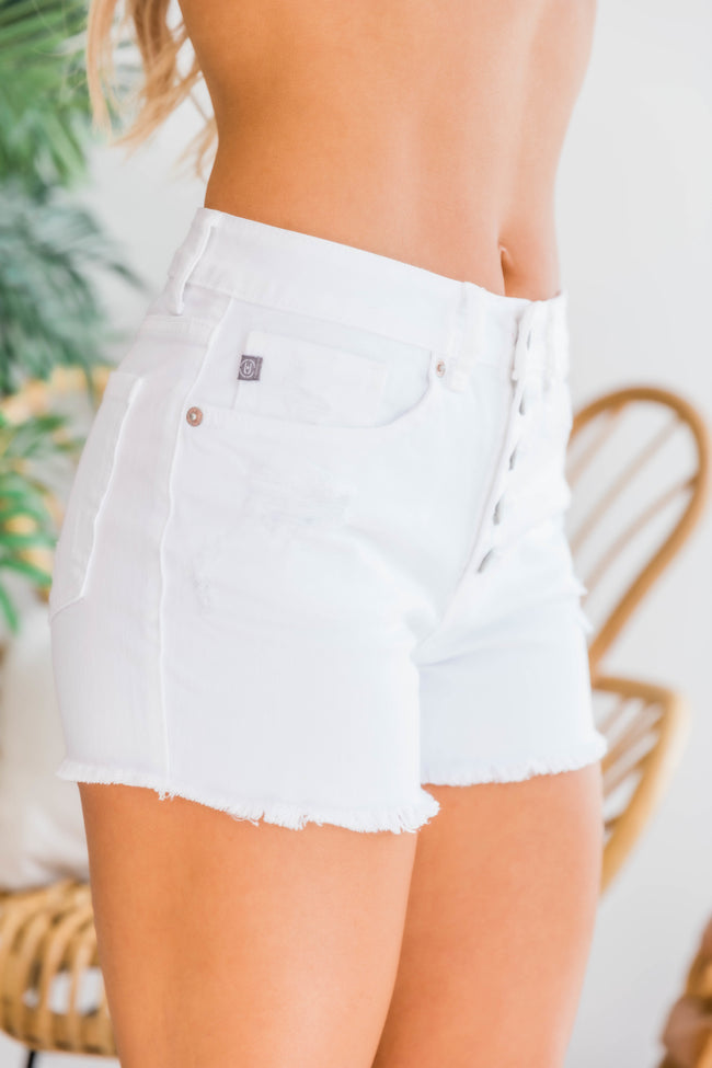 Denim Days White Shorts