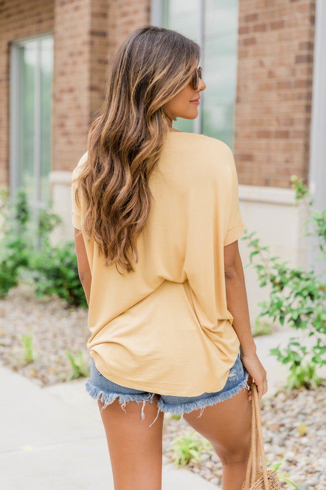 Wrapped Up In You Blouse Yellow
