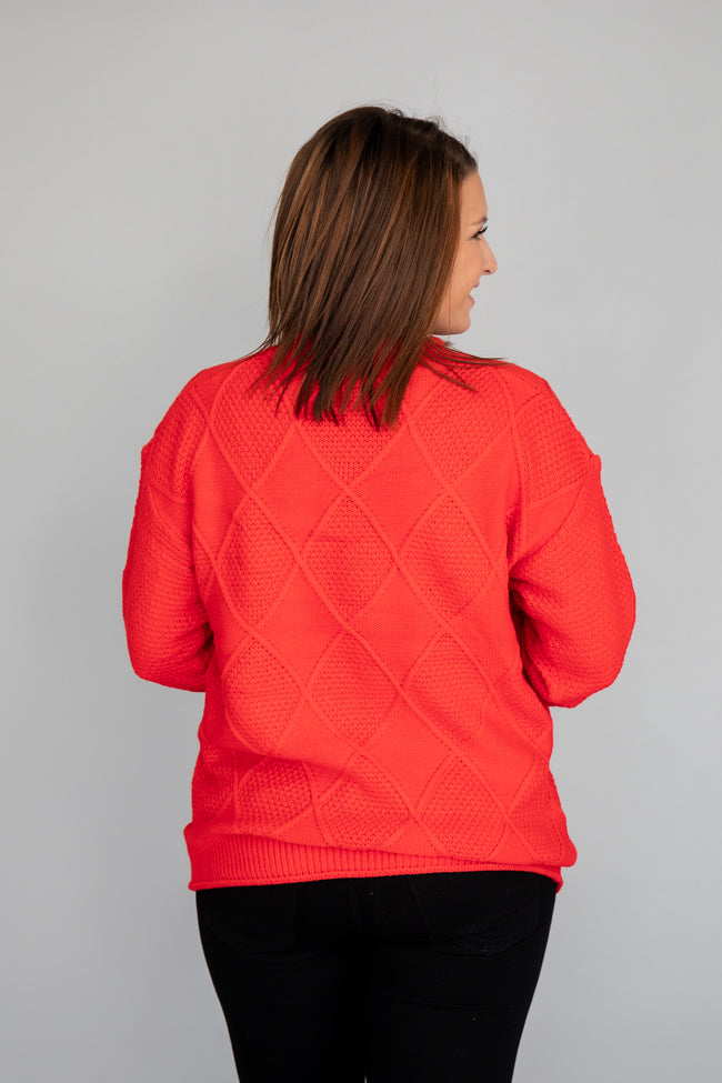 Only One Of Me Red Pom Detail Sweater