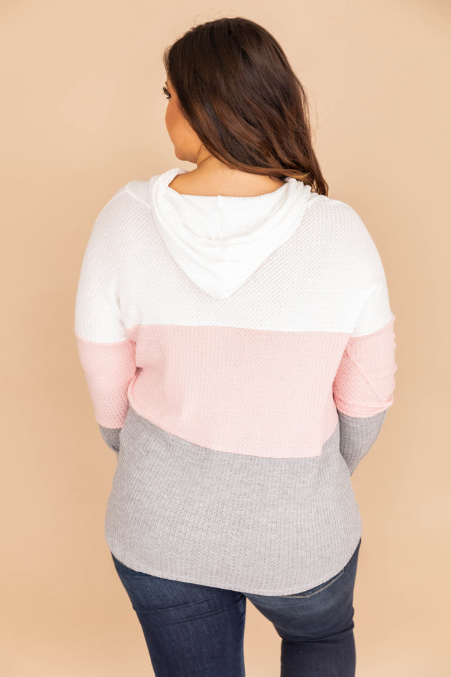 Why Not Fall In Love Mauve Colorblock Hoodie