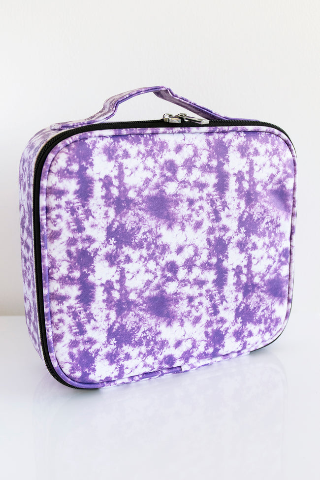 No Time To Spare Purple Tie Dye Makeup Bag