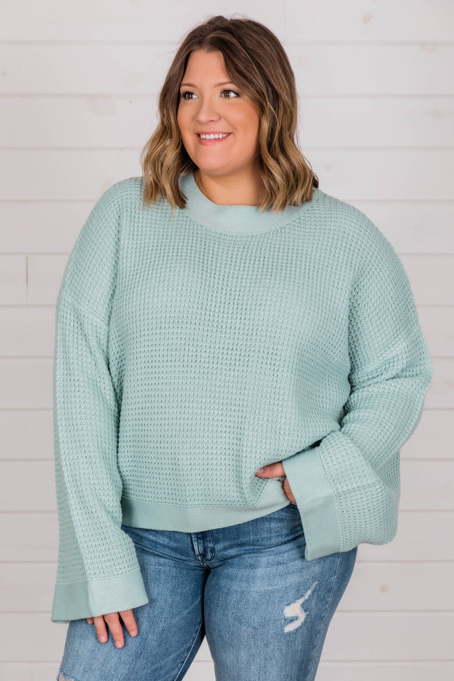 Better Than You Know Sage Sweater FINAL SALE