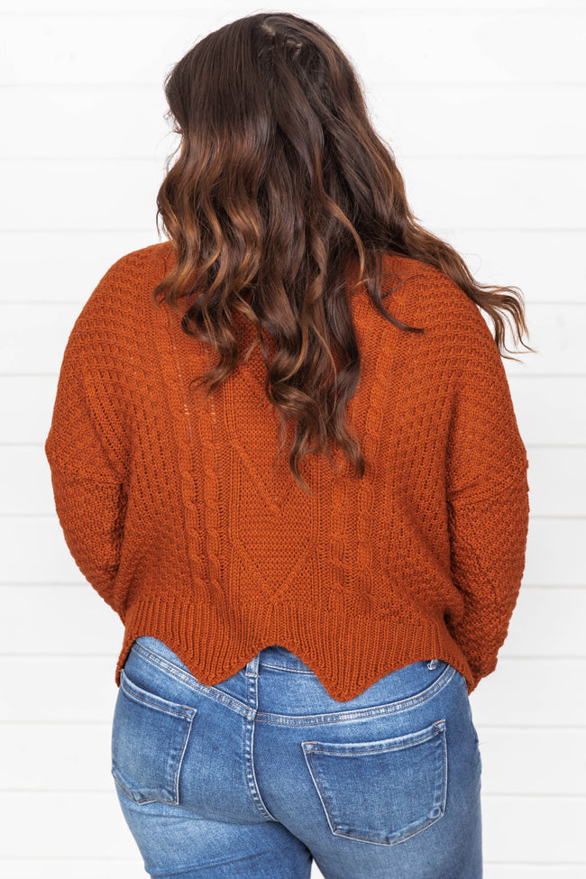 Thanks To Your Love Rust Sweater FINAL SALE