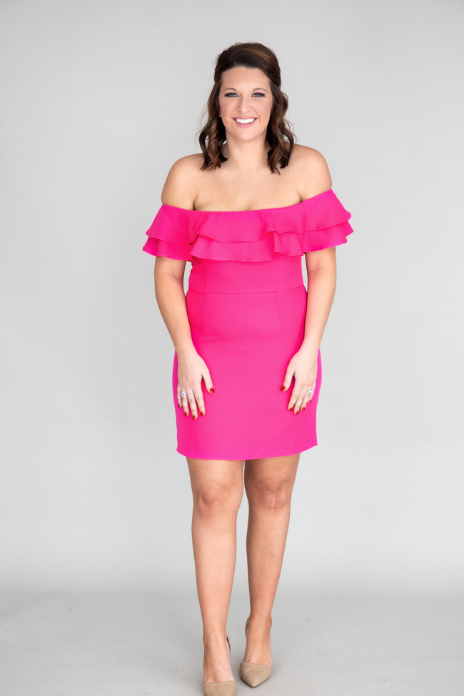 Never Late To The Party Hot Pink Dress