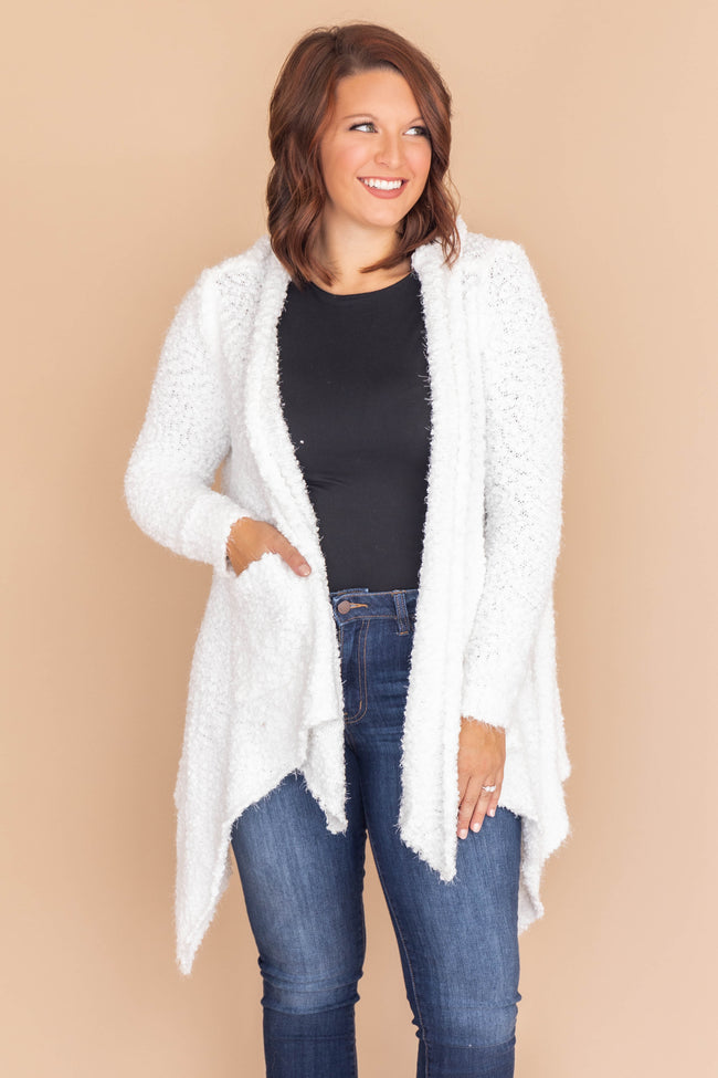 Heart Set On You Popcorn Ivory Cardigan