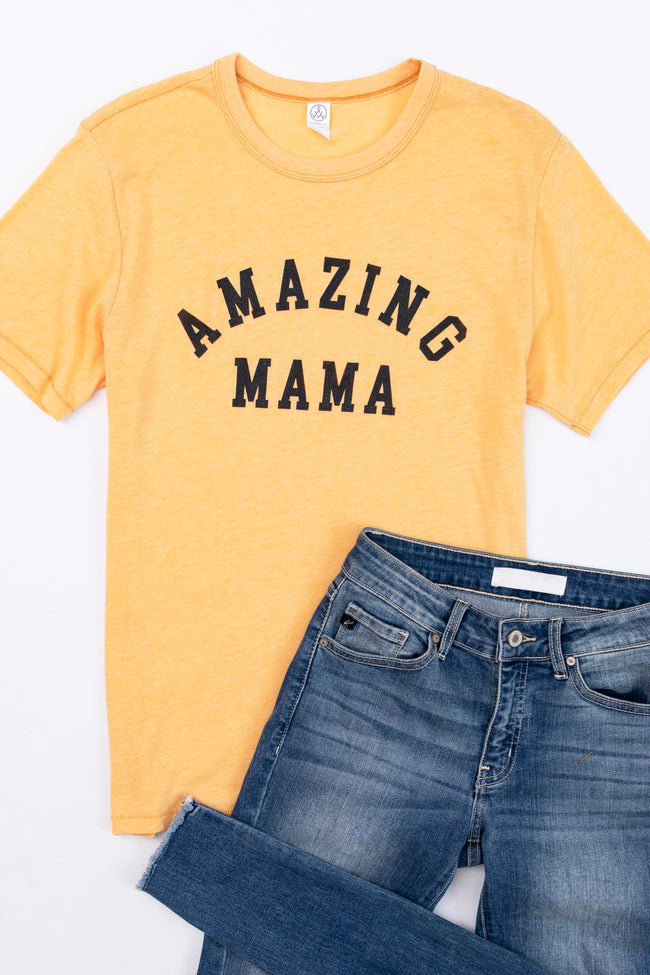 Amazing Mama Graphic Mustard Tee