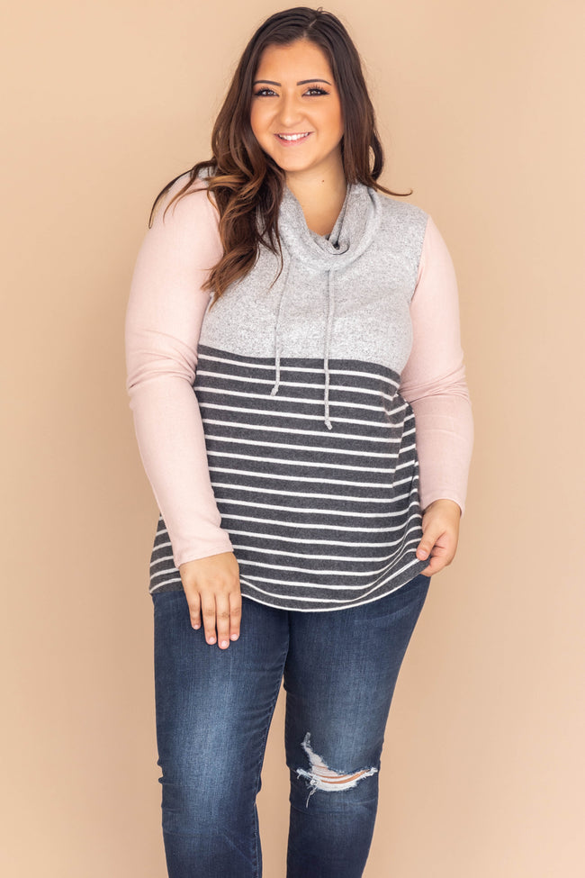Sweetest Apology Colorblock Grey Pullover