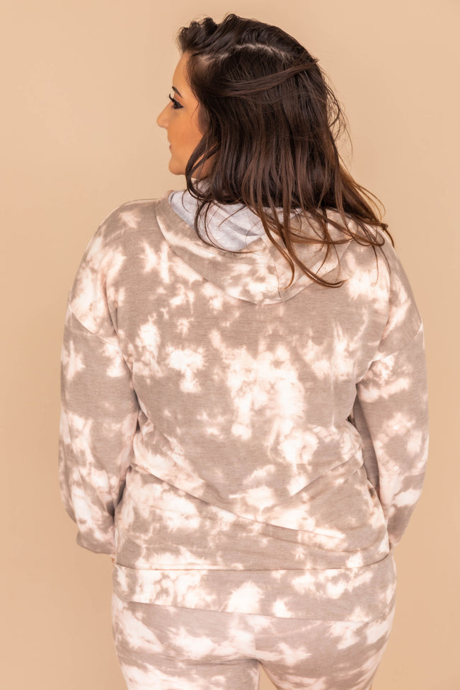 Try A New Direction Tie Dye Brown Hoodie