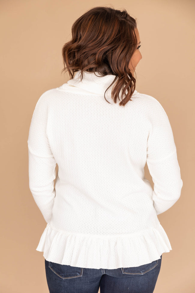 Intrigued By You Cream Blouse