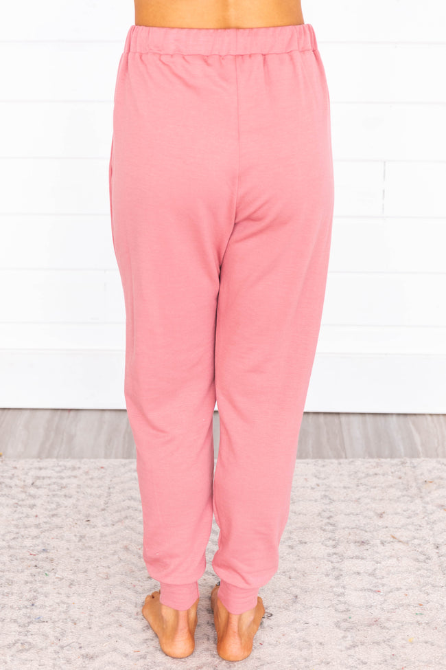 Lost Without You Rose Joggers