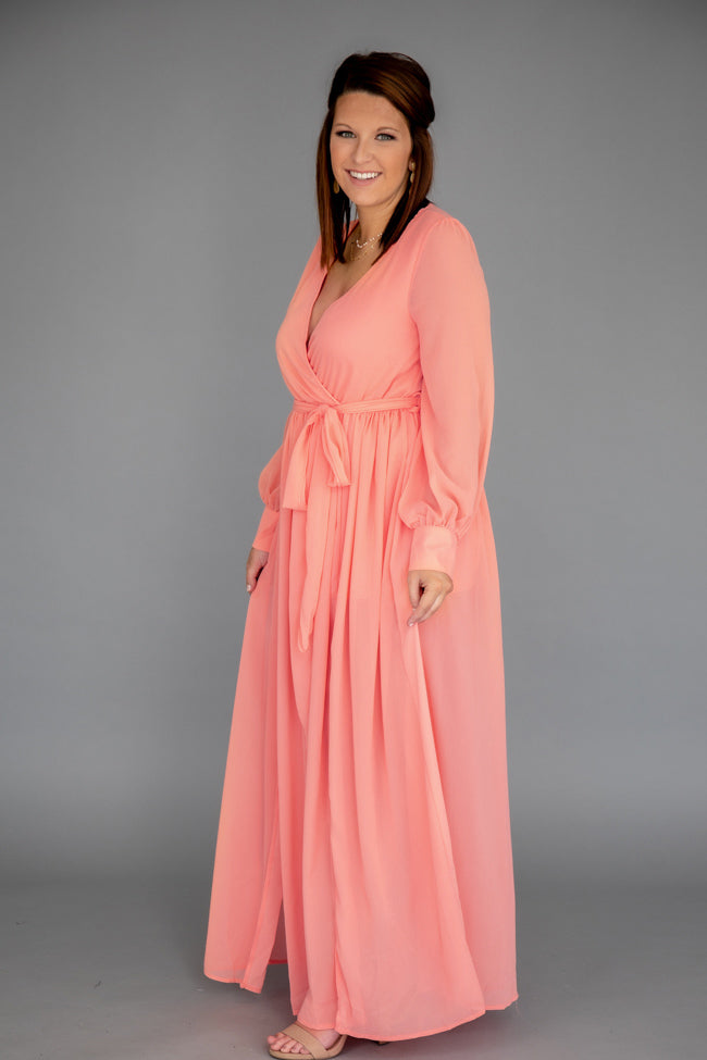 My Dearest Darling Coral Maxi Dress
