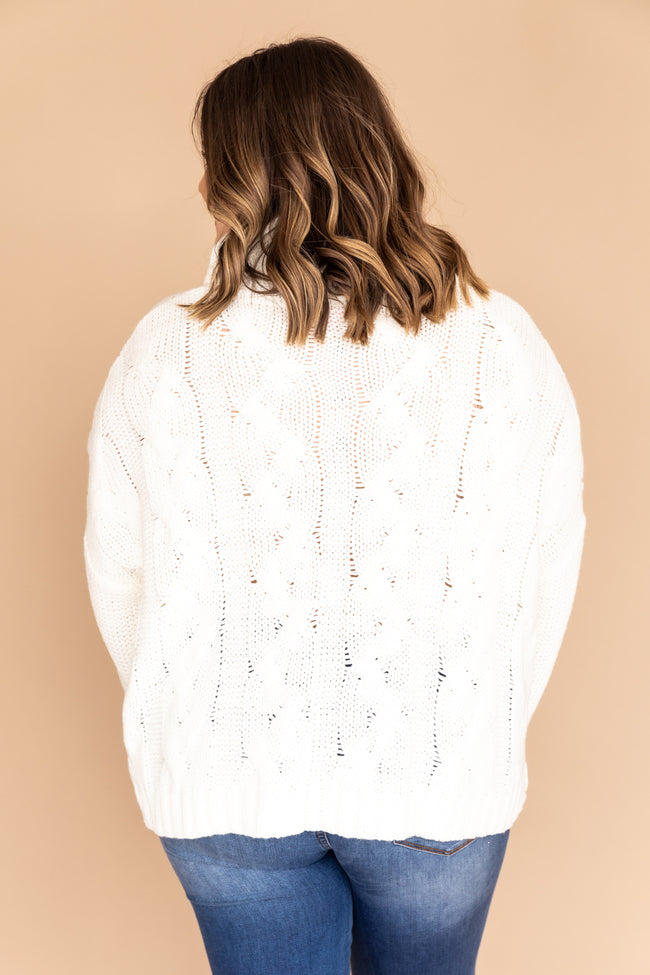 Interesting Intentions Ivory Turtleneck Sweater