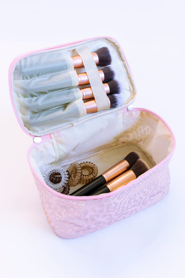 The Best You Animal Print Makeup Bag Pink