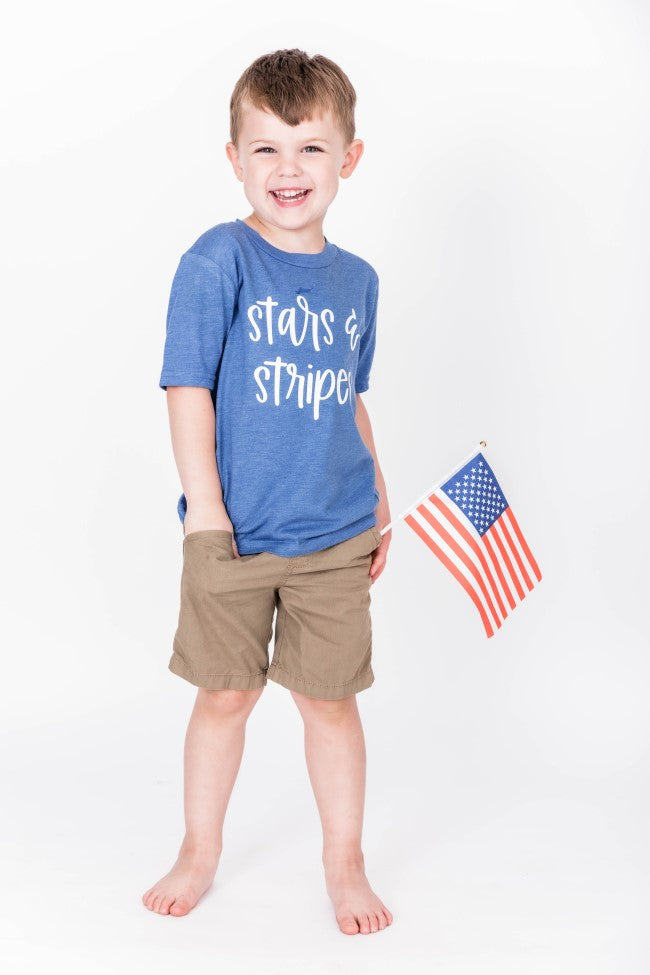 Stars And Stripes Graphic Youth Vintage Royal Blue