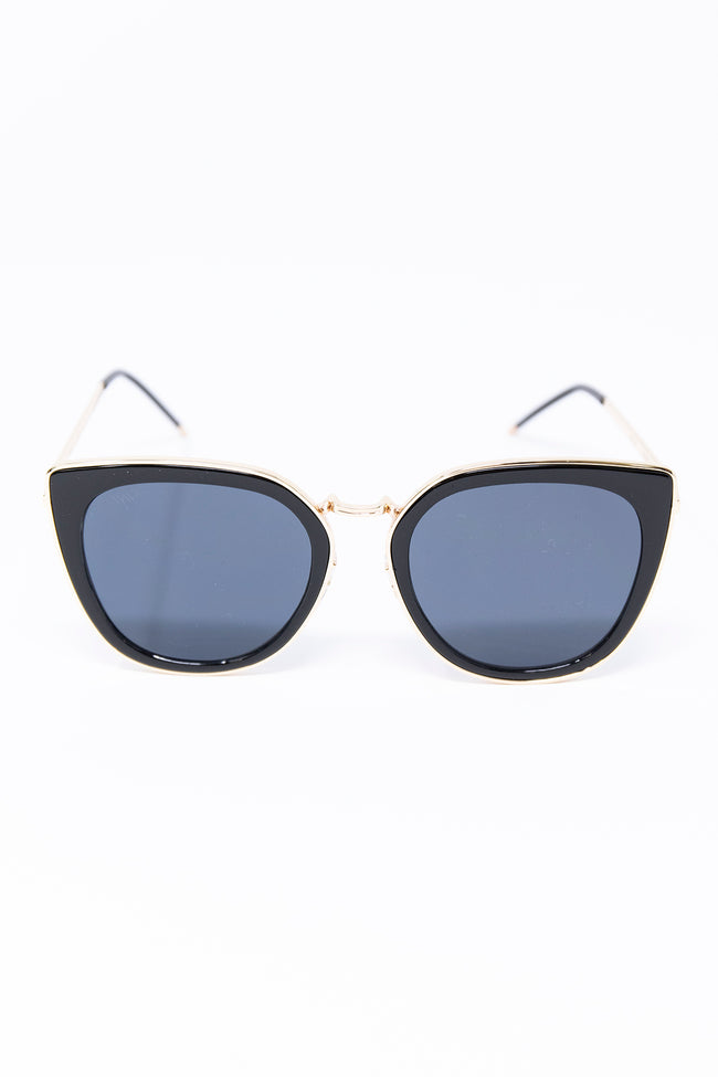 Somewhere Out West Black/Gold Sunglasses