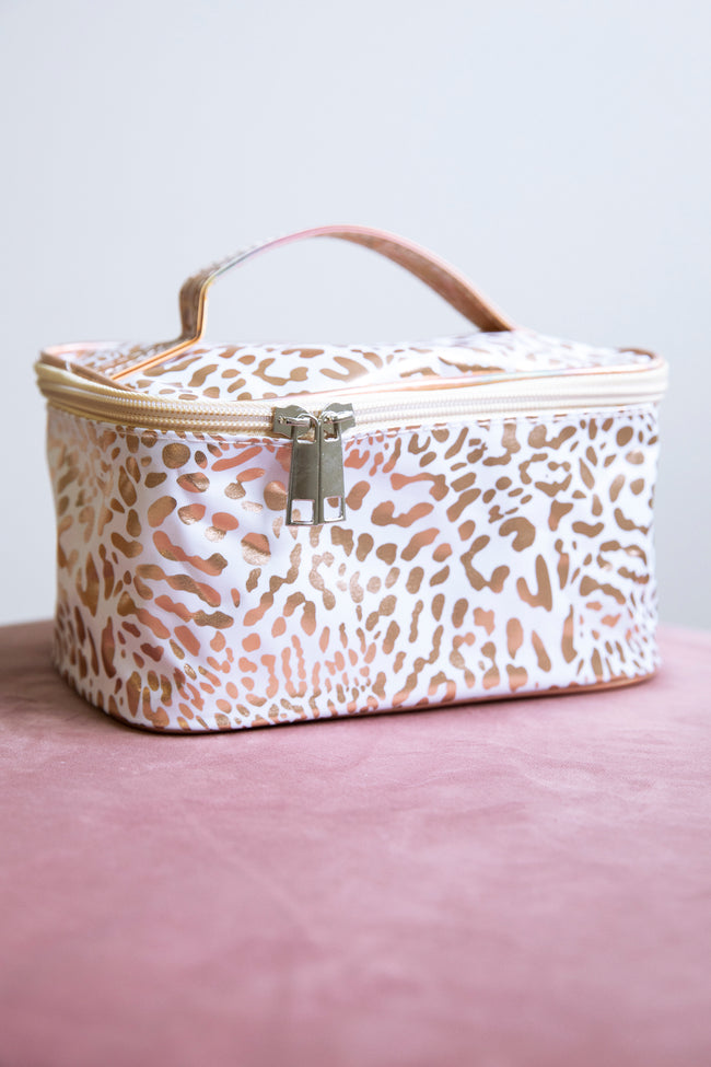 The Best You Animal Print Makeup Bag White