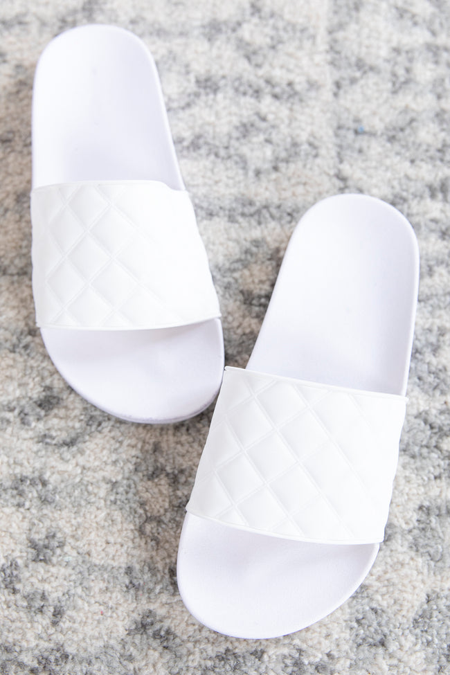 Scarlett Solid Slides White