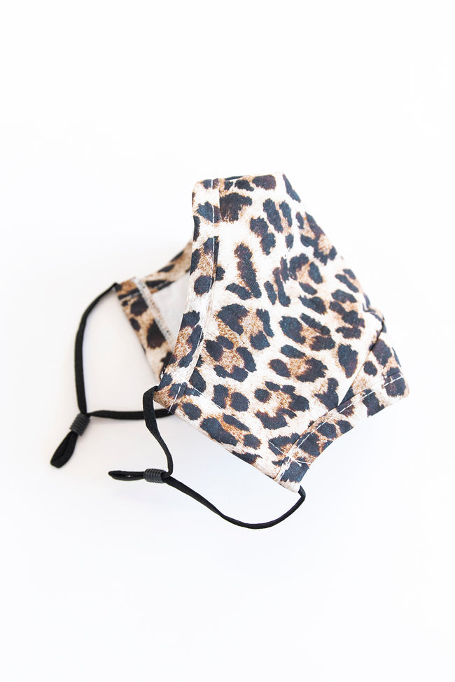 Effortless Style Animal Print Face Mask Brown