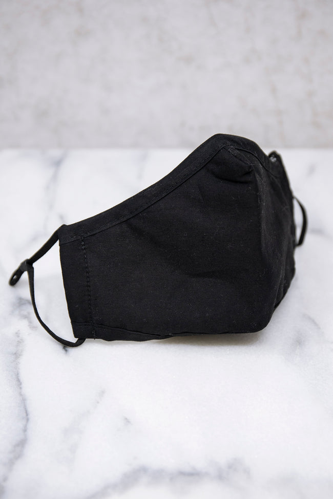 Effortless Style Face Mask Black