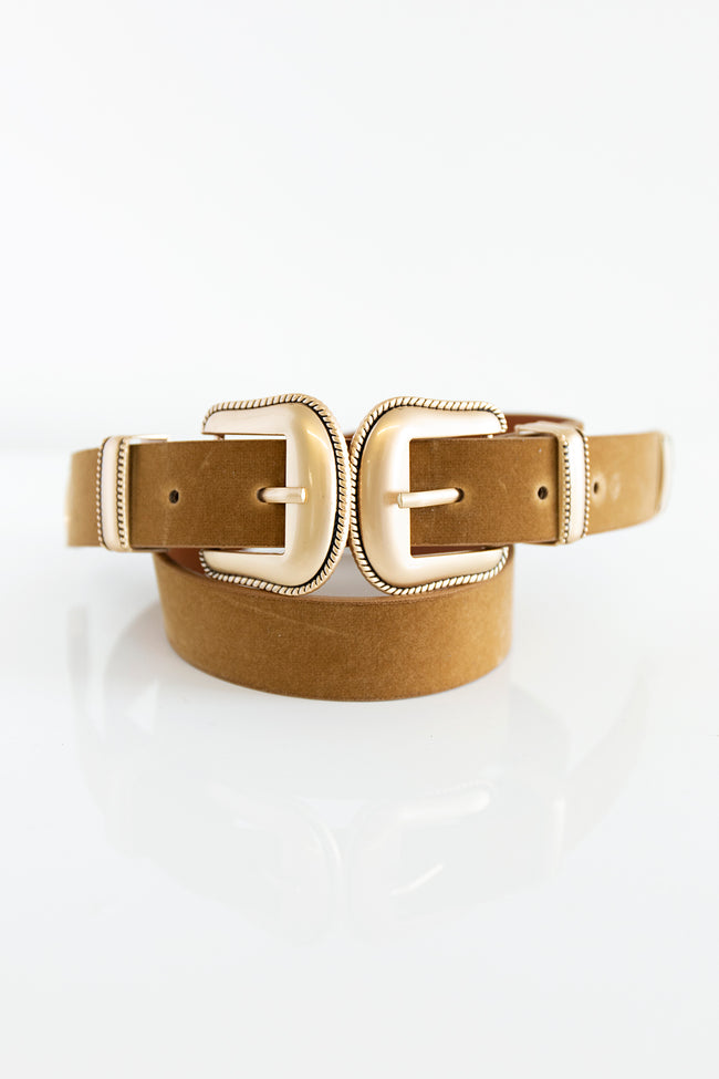 Officially Time Double Buckle Belt Brown