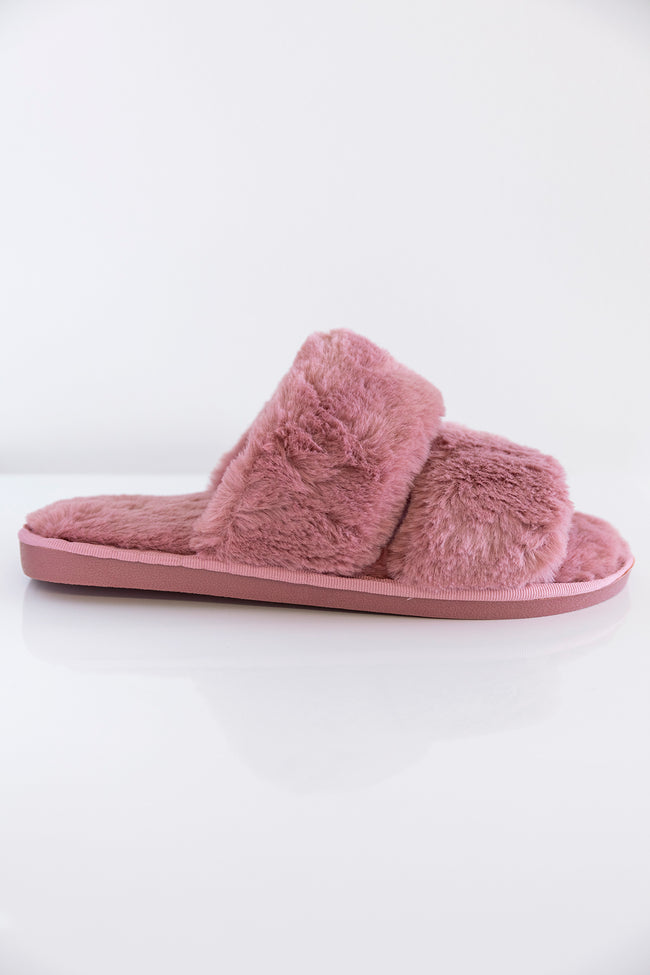 Goodnight Dreams Fuzzy Slippers Mauve