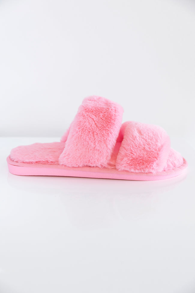 Goodnight Dreams Fuzzy Slippers Blush